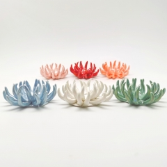 Ceramic Coral Air Plant Holder with Six Colors Assorted