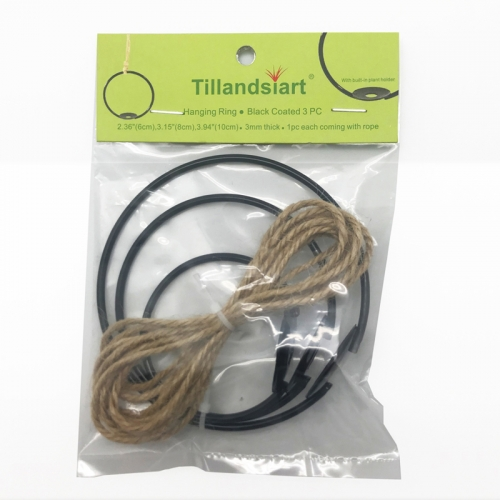 Tillandsiart Air Plant Hanging Rings - 3Pcs Set