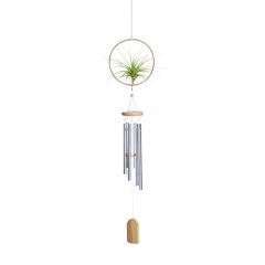Air Plant Hanging Ring with Wind Chime Set